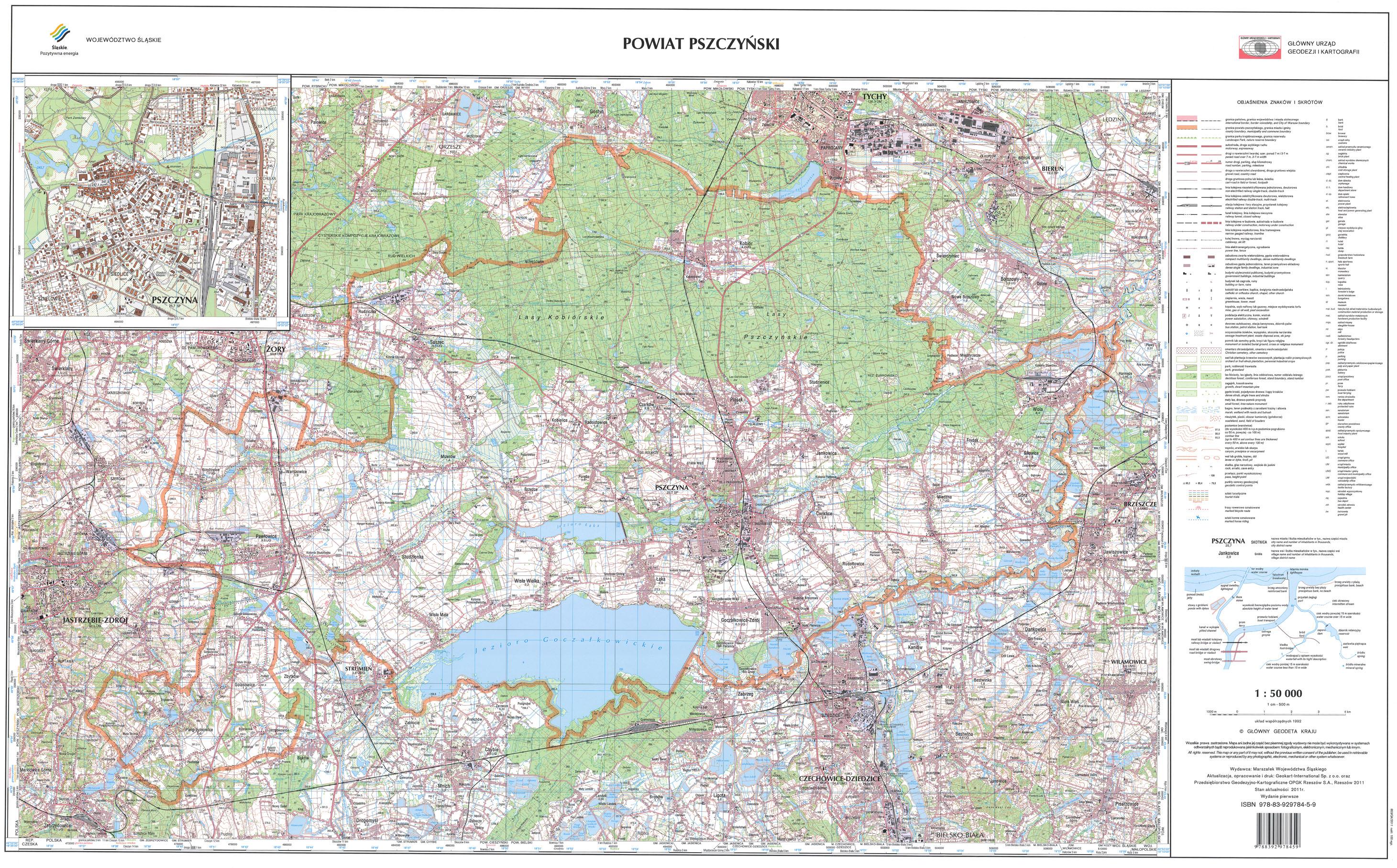 Wodgik Katowice Mapa Topograficzna Powiatow Wojewodztwa